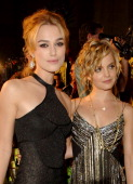 Keira Knightley and Mena Suvari during New Line Cinema's 'Domino' Los Angeles Premiere Red Carpet at Grauman's Chinese Theatre in Los Angeles...