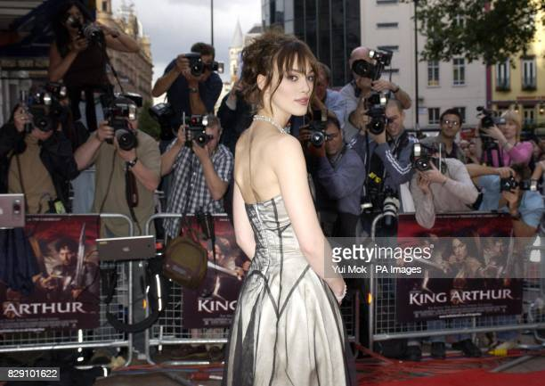 Keira Knightley arrives for the European film premiere of King Arthur at the Empire Leicester Square in central London