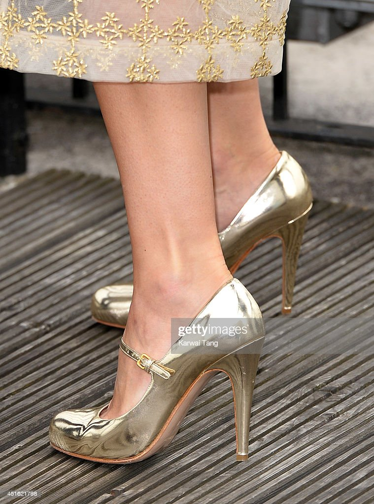 Keira Knightley (Shoe detail) attends a photocall for 'Begin Again' at Picturehouse Cinemas Ltd on July 2, 2014 in London, England.