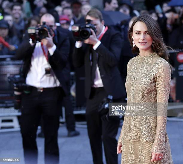 Keira Knightley attends a screening of 'The Imitation Game' on the opening night gala of the 58th BFI London Film Festival at Odeon Leicester Square...