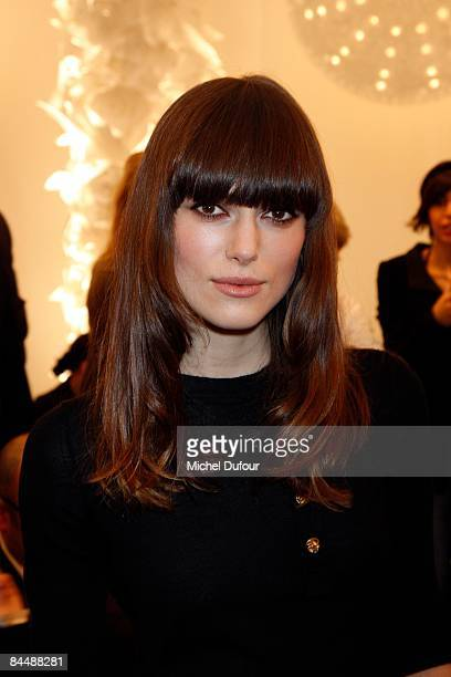 Keira Knightley attends Chanel fashion show during Paris Fashion Week Haute Couture Spring/Summer 2009 on January 27 2009 in Paris France