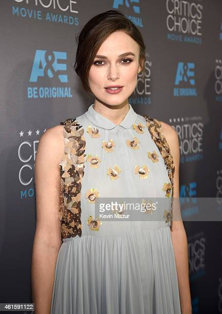 Kiera Knightly attends the 20th annual Critics' Choice Movie Awards at the Hollywood Palladium on January 15 2015 in Los Angeles California