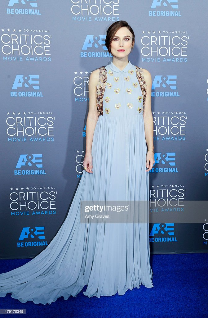 Keira Knightley attends the 20th Annual Critics' Choice Movie Awards on January 15, 2015 in Los Angeles, California.
