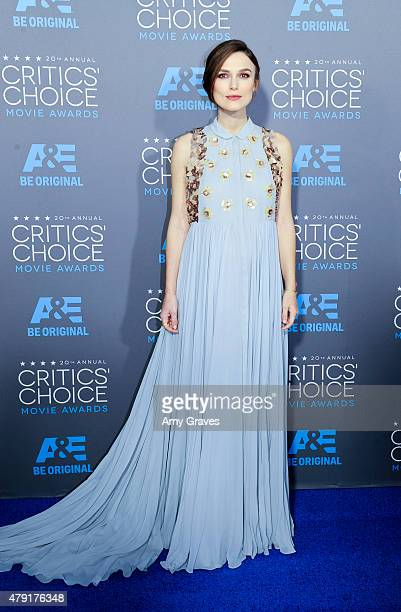 Keira Knightley attends the 20th Annual Critics' Choice Movie Awards on January 15 2015 in Los Angeles California