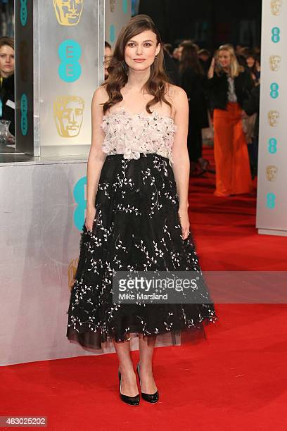 Keira Knightley attends the EE British Academy Film Awards at The Royal Opera House on February 8 2015 in London England