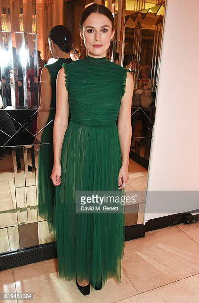 Keira Knightley attends the Harper's Bazaar Women of the Year Awards 2016 at Claridge's Hotel on October 31 2016 in London England