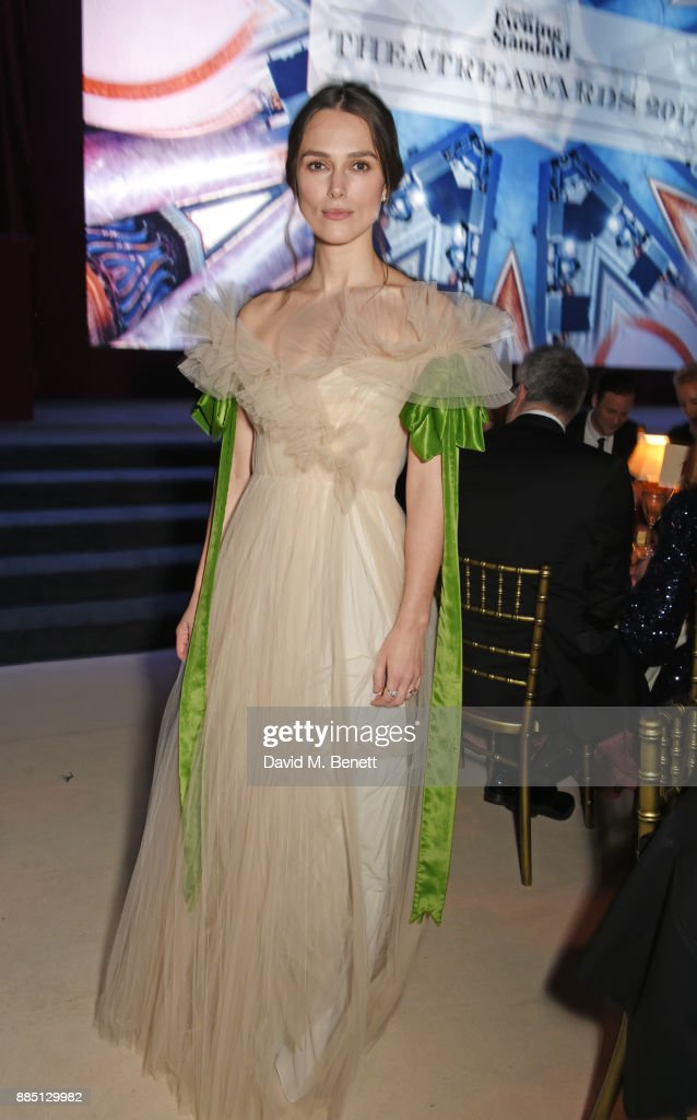 Keira Knightley attends the London Evening Standard Theatre Awards 2017 at the Theatre Royal, Drury Lane, on December 3, 2017 in London, England.