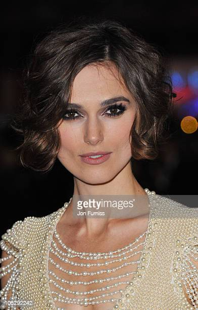 Keira Knightley attends the 'Never Let Me Go' premiere during 54th BFI London Film Festival at Odeon Leicester Square on October 13 2010 in London...