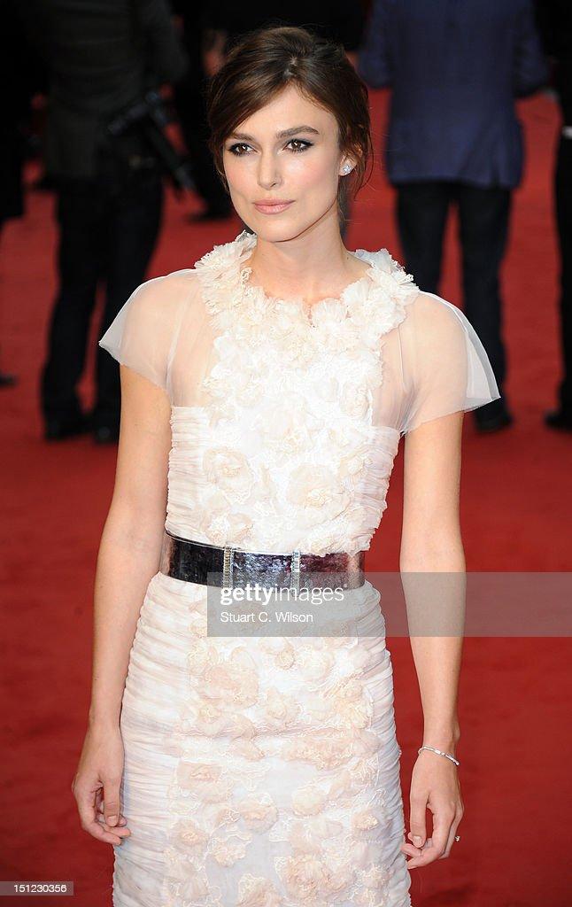 Keira Knightley attends the UK Premiere of Anna Karenina on September 4, 2012 in London, United Kingdom.