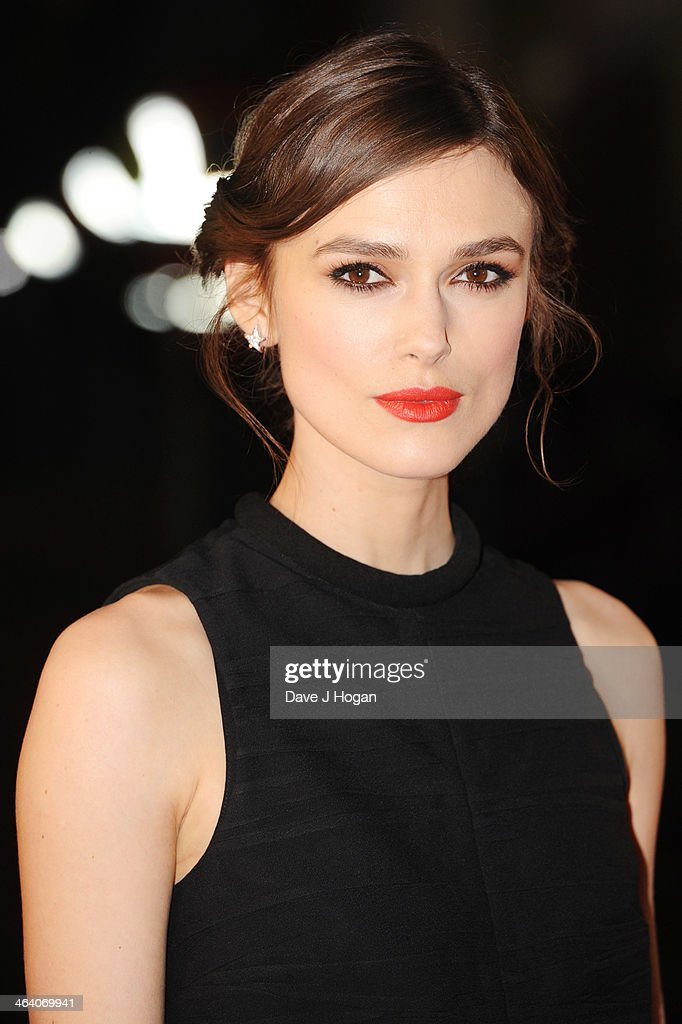 Keira Knightley attends the UK premiere of 'Jack Ryan: Shadow Recruit' on January 20, 2014 in London, England.