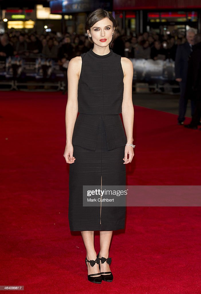 <a gi-track='captionPersonalityLinkClicked' href=/galleries/search?phrase=Keira+Knightley&family=editorial&specificpeople=202053 ng-click='$event.stopPropagation()'>Keira Knightley</a> attends the UK Premiere of 'Jack Ryan: Shadow Recruit' at Vue Leicester Square on January 20, 2014 in London, England.