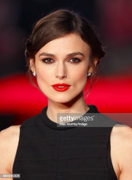 Keira Knightley attends the UK Premiere of 'Jack Ryan Shadow Recruit' at Vue Leicester Square on January 20 2014 in London England