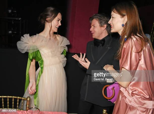 Keira Knightley Christopher Kane and Roksanda Ilincic attend the London Evening Standard Theatre Awards 2017 after party at the Theatre Royal Drury...