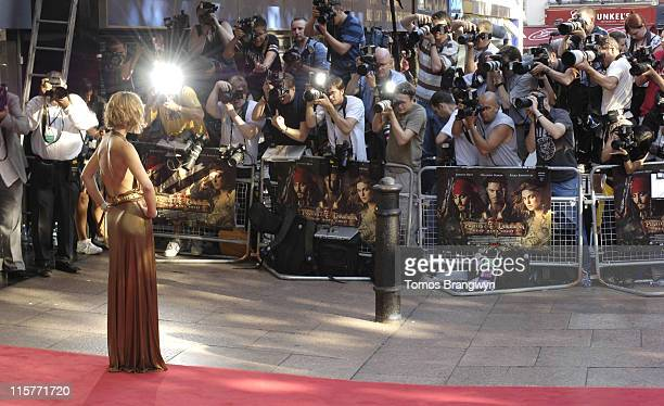 Keira Knightley during 'Pirates of The Caribbean 2 Dead Man's Chest' London Premiere at Odeon Leicester Square in London Great Britain