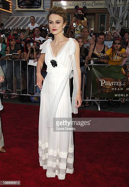 Keira Knightley during World Premiere of Walt Disney Pictures' 'Pirates of the Caribbean Dead Man's Chest' Arrivals at Disneyland in Anaheim...