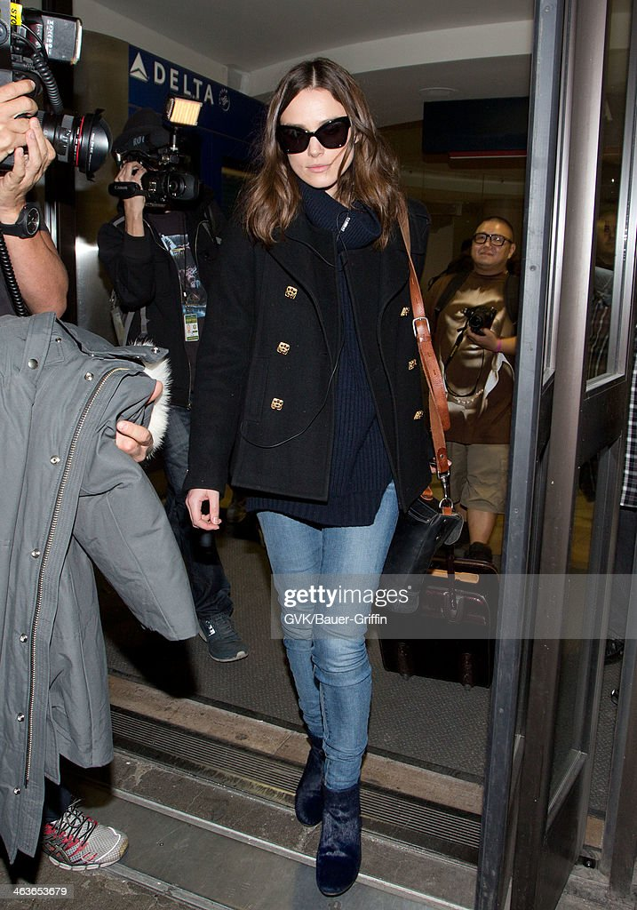 <a gi-track='captionPersonalityLinkClicked' href=/galleries/search?phrase=Keira+Knightley&family=editorial&specificpeople=202053 ng-click='$event.stopPropagation()'>Keira Knightley</a> is seen at LAX airport on January 18, 2014 in Los Angeles, California.