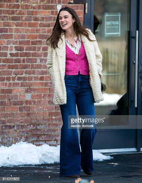 Keira Knightley is seen on set of 'Collateral Beauty' on March 7 2016 in New York City