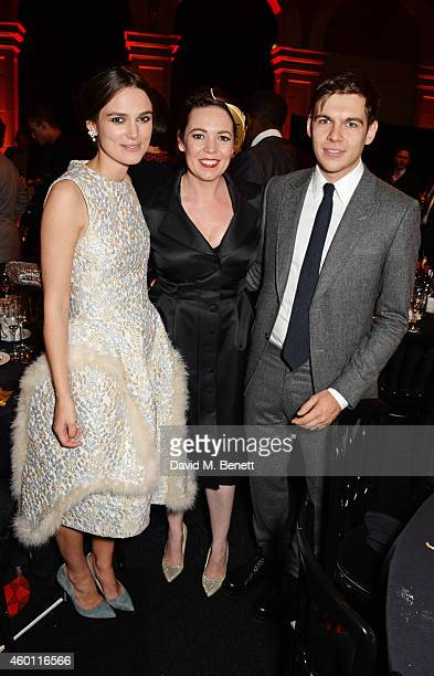 Keira Knightley Olivia Colman and James Righton attend an after party celebrating The Moet British Independent Film Awards 2014 at Old Billingsgate...