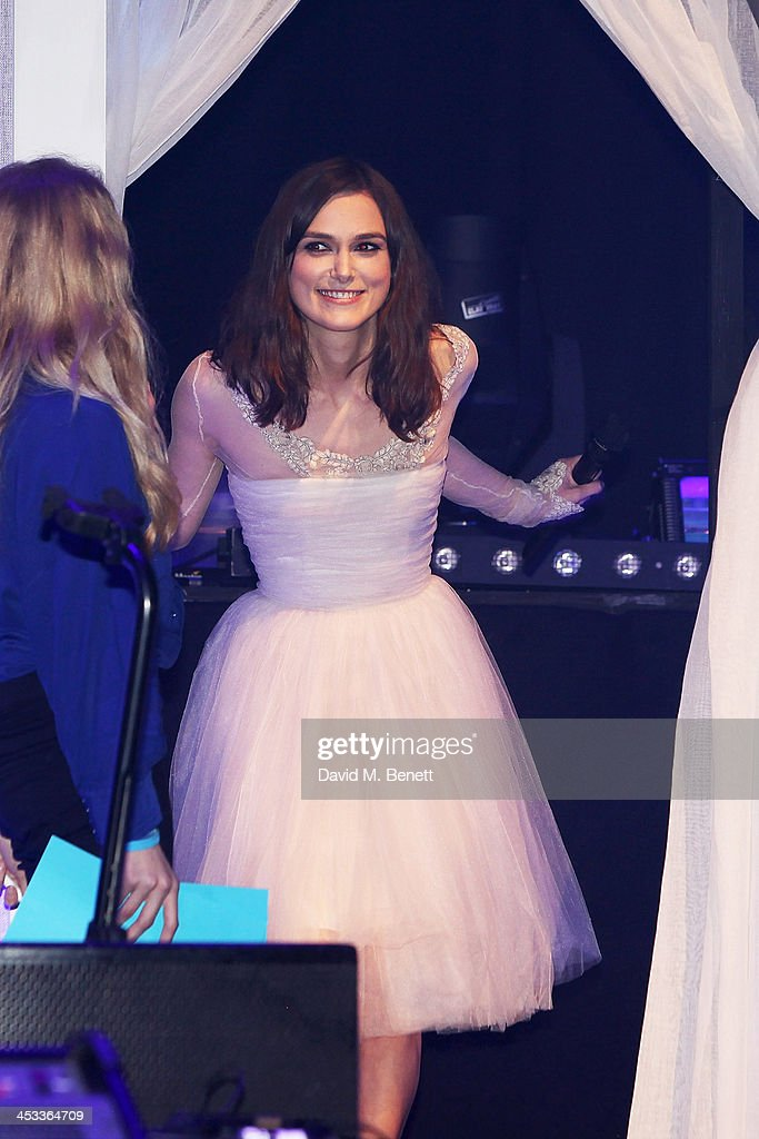 <a gi-track='captionPersonalityLinkClicked' href=/galleries/search?phrase=Keira+Knightley&family=editorial&specificpeople=202053 ng-click='$event.stopPropagation()'>Keira Knightley</a> on stage at the SeriousFun London Gala 2013, benefiting a growing community of camps and programs serving children with serious illnesses and their families and established by Paul Newman in 1988, at The Roundhouse on December 3, 2013 in London, England.