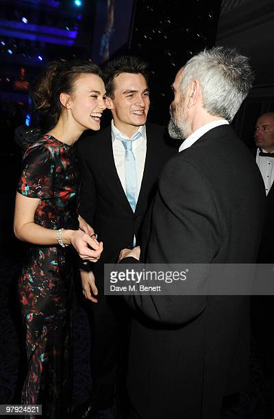 Keira Knightley Rupert Friend and Jonathan Pryce attend The Laurence Olivier Awards at the Grosvenor House Hotel on March 21 2010 in London England