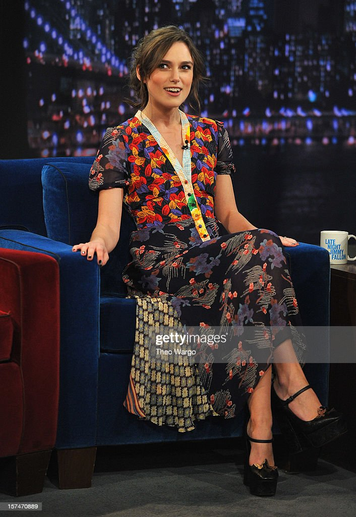 Keira Knightley visits 'Late Night With Jimmy Fallon' at Rockefeller Center on December 3, 2012 in New York City.