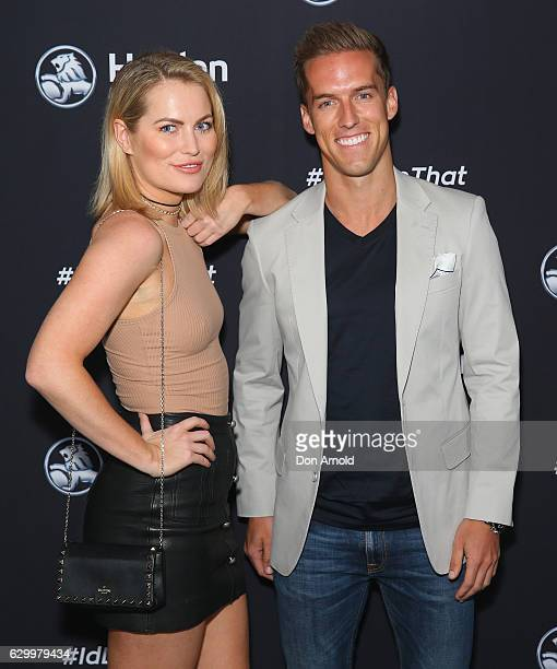 Keira Maguire and Matt Suleau attend the launch of the new Holden Astra at Three Blue Ducks in Rosebury on December 15 2016 in Sydney Australia