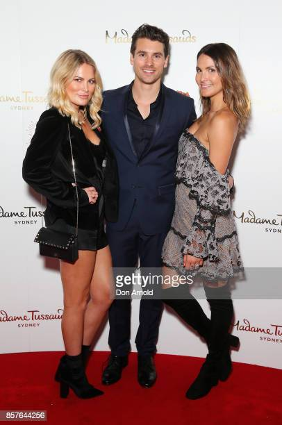 Keira Maguire Matty Johnson and Laura Byrne attend Madame Tussauds VIP Party Experience Launch on October 4 2017 in Sydney Australia