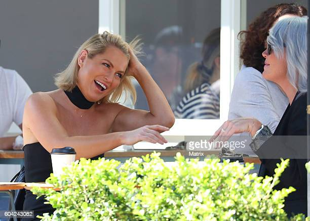 Keira Maguire pictured having coffee in Double Bay on September 9 2016 in Sydney Australia