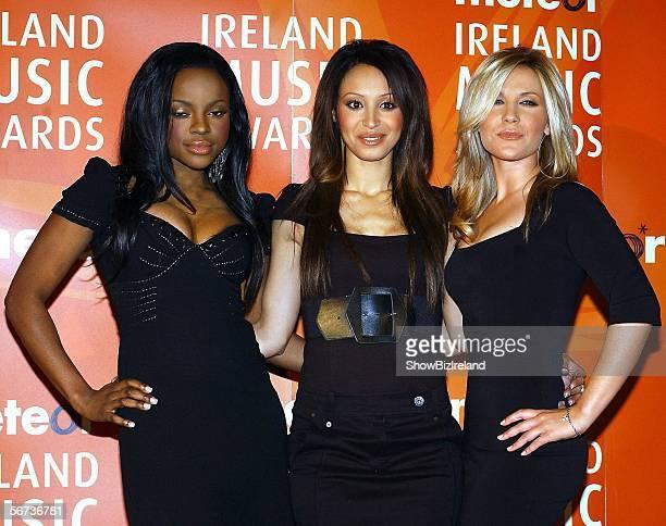 Keisha Buchanan Amelle Berrabah and Heidi Range of The Sugababes attend The Meteor Ireland Music Awards 2006 the annual radio station awards...