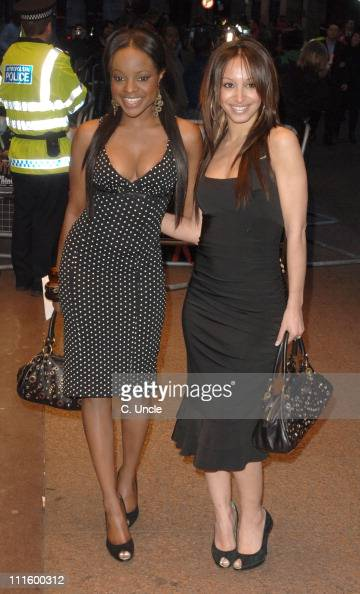 Keisha Buchanan and Amelle Berrabah during 'Rollin' With The Nines' London Premiere Arrivals at Odeon Leicester Square in London Great Britain