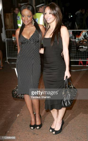 Keisha Buchanan and Amelle Berrabah during 'Rollin' with The Nines' London Premiere Arrivals at Odeon in London Great Britain