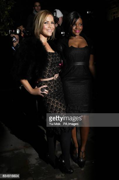Keisha Buchanan and Heidi Range from the Sugababes attend the VIP reception ahead of tonight's performance of The Sleeping Beauty at St Martins Lane...