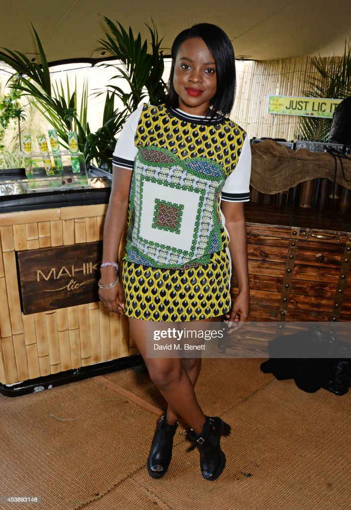 <a gi-track='captionPersonalityLinkClicked' href=/galleries/search?phrase=Keisha+Buchanan&family=editorial&specificpeople=204610 ng-click='$event.stopPropagation()'>Keisha Buchanan</a> attends the Mahiki Rum Bar for the launch of the Mahiki Rum Family backstage during day 1 of the V Festival 2014 at Hylands Park on August 16, 2014 in Chelmsford, England.