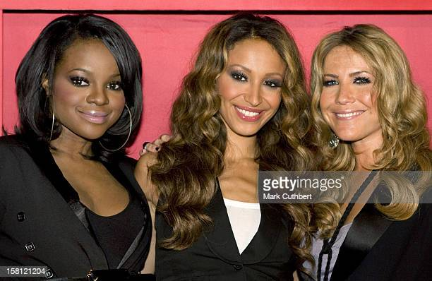 Keisha Buchanan Heidi Range And Amelle Berrabah From The Sugababes Launch A New Hair Product Range At Sketch In London