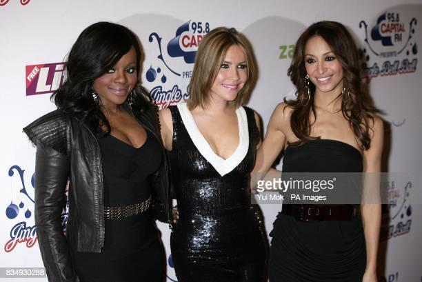 Keisha Buchanan Heidi Range and Amelle Berrabah of The Sugababes arrive at the Jingle Bell Ball at the O2 Arena London SE10