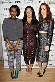 Keisha Buchanan Mutya Buena and Siobhan Donaghy attend the PPQ Spring/Summer 2014 After Show Party Cocktails and VIP Dinner with PerrierJouët at...