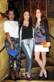 Keisha Buchanan Mutya Buena and Siobhan Donaghy of MKS arrive for Matthew Williamson's after party during London Fashion Week SS14 at The Box Soho on...