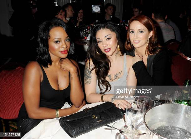 Keisha Buchanan Mutya Buena and Siobhan Donaghy of The Sugababes attend The Q Awards 2012 at the Grosvenor House Hotel on October 22 2012 in London...