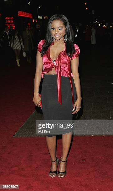 Keisha Buchannan of the Sugababes arrives at the UK Premiere of 'Get Rich Or Die Tryin'' at the Empire Leicester Square on January 17 2006 in London...
