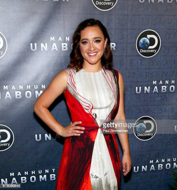 Keisha CastleHughes attends Discovery's 'Manhunt Unabomber' World Premiere at the Appel Room at Jazz at Lincoln Center's Frederick P Rose Hall on...