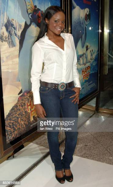 Keisha from Sugababes arriving for the UK Premiere of Happy Feet at the Empire Leicester Square in central London