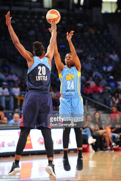 Keisha Hampton of the Chicago Sky shoots the ball against the Atlanta Dream on May 21 2017 at Hank McCamish Pavilion in Atlanta Georgia NOTE TO USER...