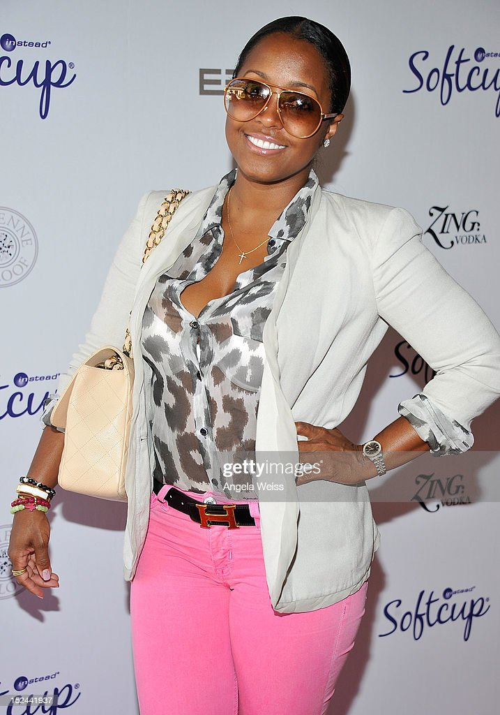 Keisha Knight Pulliam attends the Softcup Beauty Retreat with ZING Vodka Cocktails at a private residency on September 20, 2012 in Beverly Hills, California.