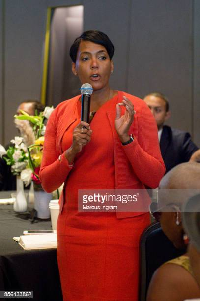 Keisha Lance Bottoms speaks during The Royal Brunch at Center For Civil Human Rights on October 1 2017 in Atlanta Georgia