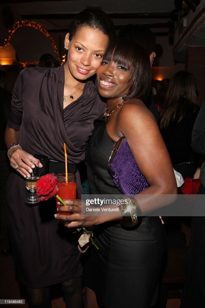 Keisha Whitaker and singer Estelle attend the third day of the 13th Annual Capri Hollywood International Film Festival on December 29 2008 in Capri...