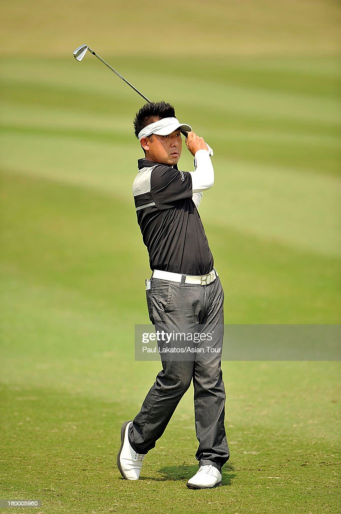 Keishiro Nakata of Japan plays a shot during round three of the Asian Tour Qualifying School Final Stage at Springfield Royal Country Club on January 25, 2013 in Hua Hin, Thailand.