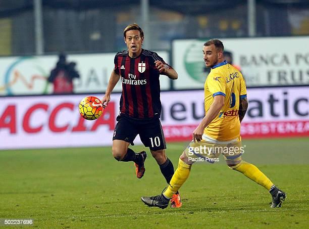 Keisuke Honda during the Italian Serie A soccer match between Frosinone and AC Milan at Matusa Stadium in Frosinone Milan won with score of 4 2