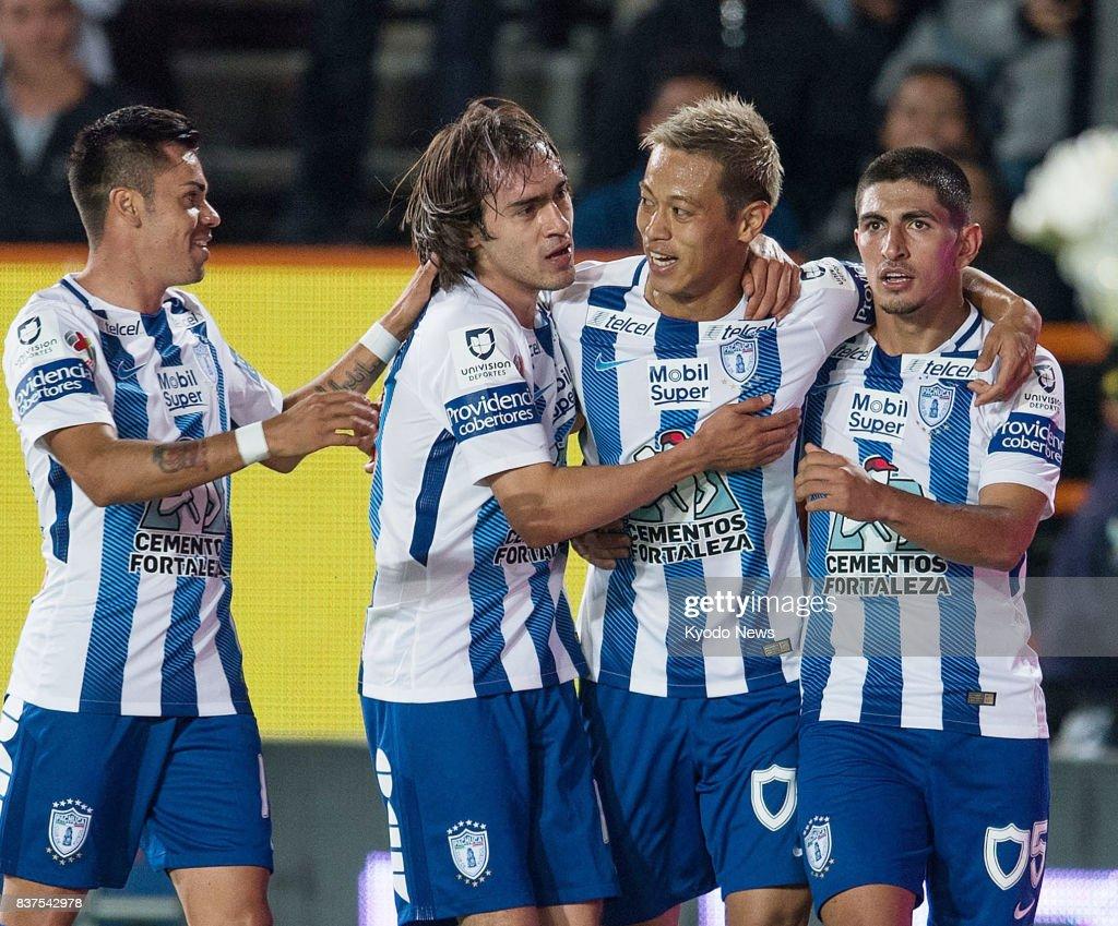 Soccer Honda scores in Mexican league debut