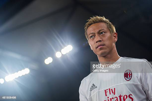 Keisuke Honda of AC Milan looks on during the AC Milan vs FC Internacionale as part of the International Champions Cup 2015 at the looks onnggang...