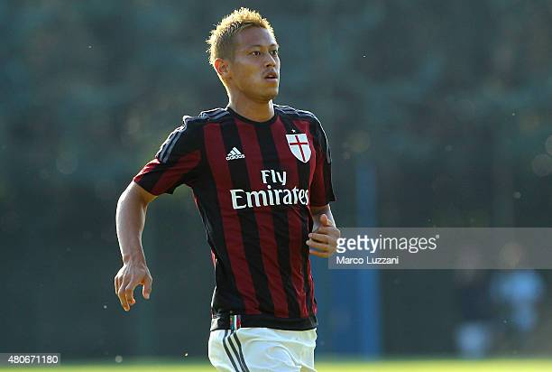 Keisuke Honda of AC Milan looks on during the preseason friendly match between AC Milan and Legnano on July 14 2015 in Solbiate Arno Italy